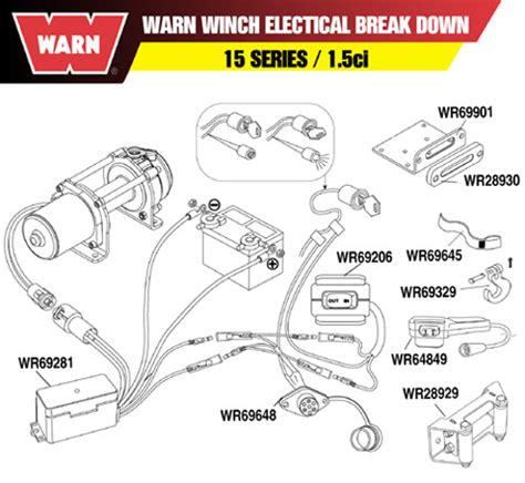 warn winch remote control socket harness