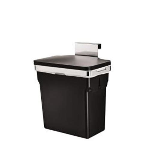 Cabinet Trash Can Home Depot by Simplehuman 10 Liter Black In Cabinet Trash Can Cw1643