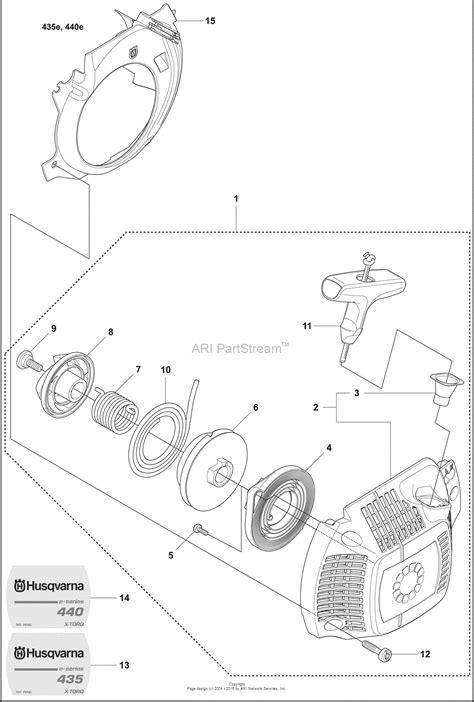 husqvarna     parts diagram  starter