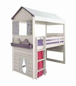 Cabane Enfant Tissu : 17 best images about lit cabane on pinterest childs bedroom cool forts and princess room ~ Teatrodelosmanantiales.com Idées de Décoration