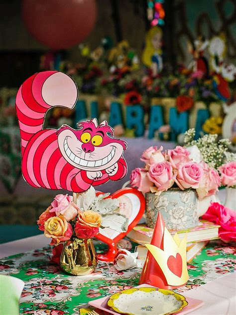 alice and wonderland table decorations alice in wonderland birthday party whimsy fantasy