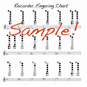Mini Recorder Fingering Chart Double Sided Laminated Chart