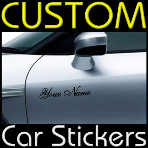 custom vinyl lettering stickers 2 x custom personalised vinyl car or stickers decal ebay