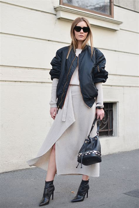 How to Style a Bomber Jacket as Seen by Street-Style Stars   StyleCaster