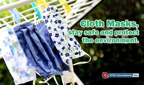 Face Mask, stay safe and protect the environment - ET2C