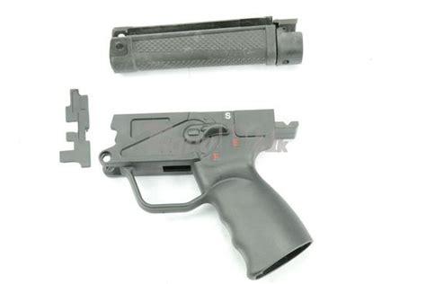 fe cnc nylon mp5a3 handguard with adaptor motor grip airsoft tiger111hk area