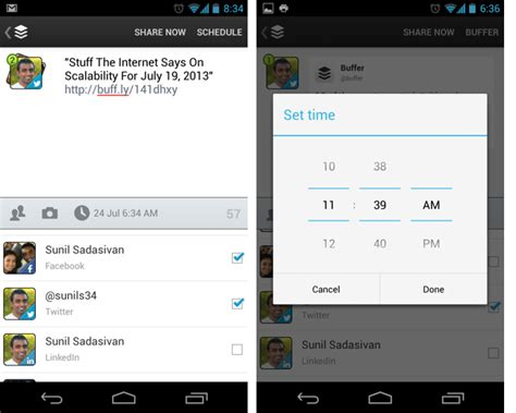 time for android buffer app for android and iphone buffer