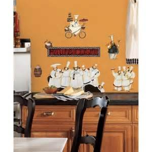 italian fat chef kitchen decor wall stickers peel and