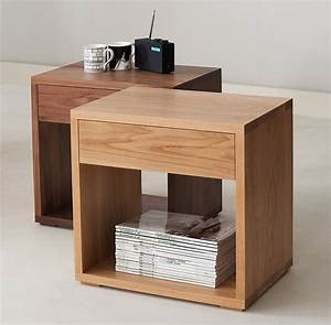 Our latest bedside table design the cube table for Modern timber furniture