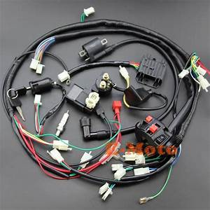 Full Electrics Wiring Harness Cdi Ignition Coil Key Ngk