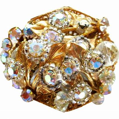 Robert Brooch Crystal Ab Jewelry