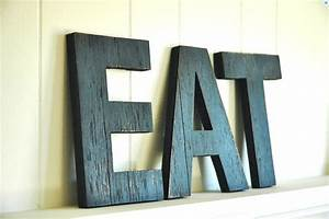 eat letters large wall art handmade wood sign by With eat decorative letters