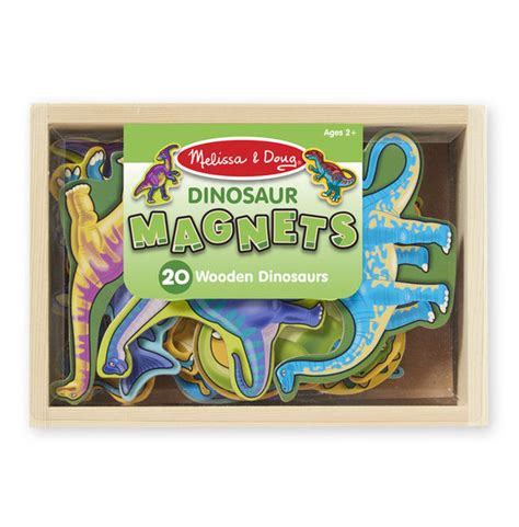 set of 20 wooden dinosaur magnets woodland toys
