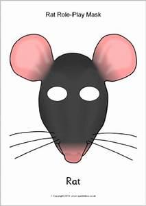 printable mouse mask template - rat role play masks sb9962 sparklebox
