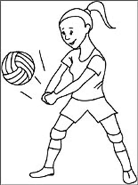 dibujo de voleibol  colorear dibujos  colorear