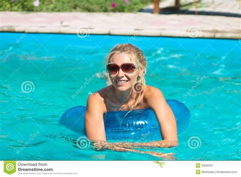 Beautiful Girl In Swimming Pool Stock Image  Image 33590201