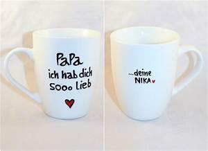 Tassen Bemalen Ideen : personalisiertes papa kind geschenk tasse mit name von lovely cups auf inspiration ~ Yasmunasinghe.com Haus und Dekorationen