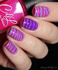 Pink and Purple Nails Art Design