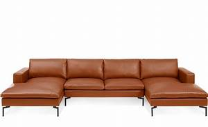 new standard u shaped leather sectional sofa hivemoderncom With sectional sofa kiln dried