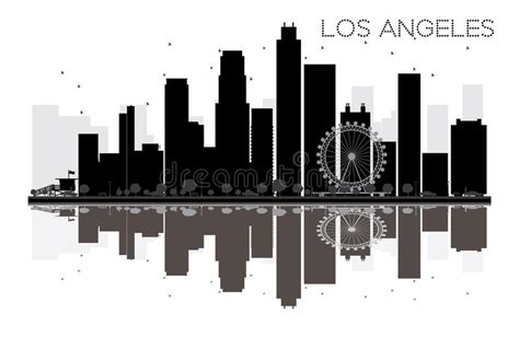 green silhouette eco city flat vector stock vector image los angeles city skyline black and white silhouette stock Beautiful