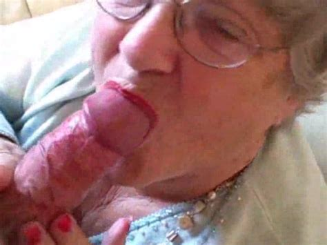 Granny Puts On Her Lipstick Then Sucks Young Cock Alotporn
