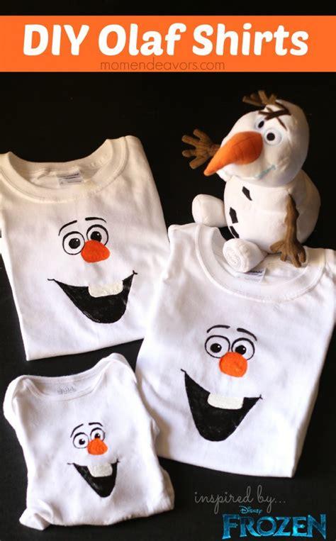 disney frozen craft diy olaf shirt