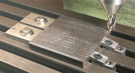 profile milling table workpiece clamps