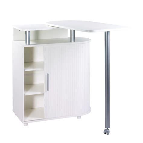 cuisine intégré table de cuisine rangement intégré blanche