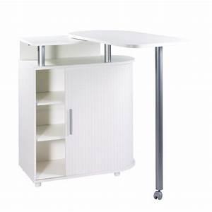 Table Cuisine Blanche : table de cuisine rangement int gr blanche ~ Teatrodelosmanantiales.com Idées de Décoration