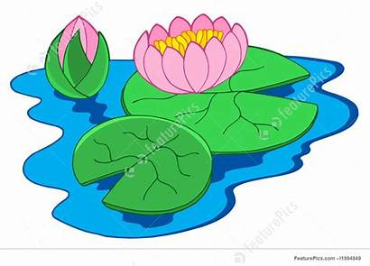 Water Lilies Lily Clipart Flower Pink Pond