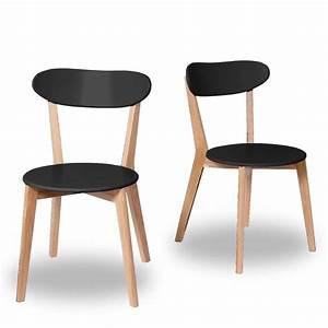 Chaise Scandinave Noir : chaises design scandinave vitak par drawer ~ Teatrodelosmanantiales.com Idées de Décoration