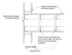 metalstudcornerframingdetail metal stud corner framing detail http