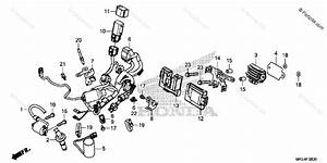 Honda Motorcycle 2017 Oem Parts Diagram For Wire Harness