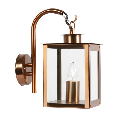 oaks outdoor wall light copper achica