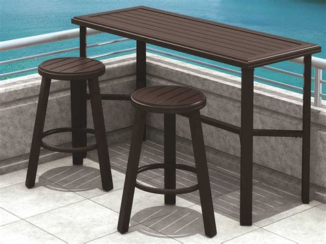 Outdoors Tables : Tropitone Banchetto Aluminum 66 X 42 Rectangular Bar Table