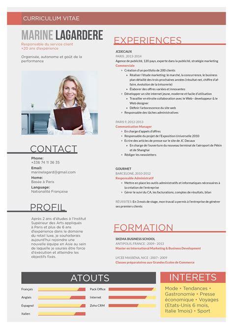 Exemple De Modele De Cv by Exemple De Cv Responsable Des Produits Structur 233 S Actions