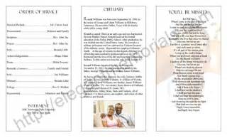 funeral programs order of service homegoing service program sle exle of programs for