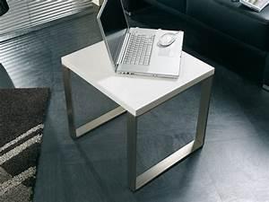 Tischplatte Hochglanz Weiß : beistelltisch 45x45 edelstahloptik tischplatte wei ~ Buech-reservation.com Haus und Dekorationen