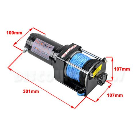 Electric Boat Winch Wireless Remote by 12v 3000lbs 1361kg Electric Winch Synthetic Rope Wireless