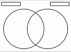 Free Blank Venn Diagram Template Paper Worksheets