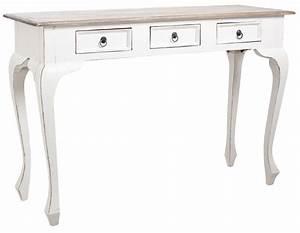 Console Bois Blanc : console 120cm en bois avec tiroirs ~ Teatrodelosmanantiales.com Idées de Décoration