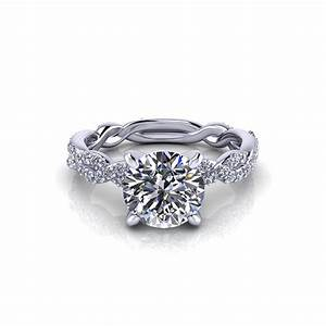 carat round infinity engagement ring jewelry designs With infinity design wedding ring