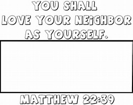 Love Your Neighbor As Yourself Coloring Sheet | Coloring Page