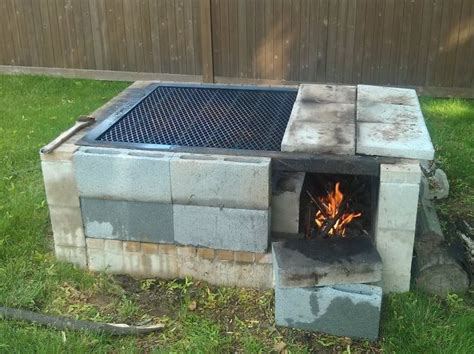 Annas Bbq Pit Sinking by 17 Best Ideas About Cinder Block Pit On