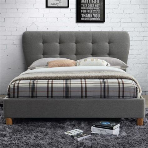 Birlea Stockholm Upholstered Grey Small Double Bed