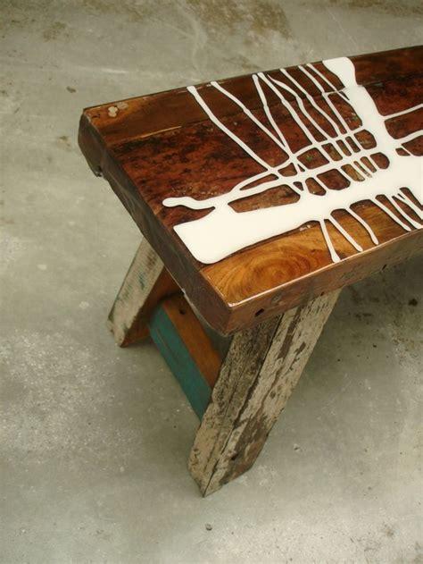 custom  vintage stool  colour coating art  top