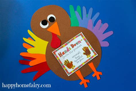 thankful handprint turkey craft free printable happy 228 | thankful handprint turkey 21
