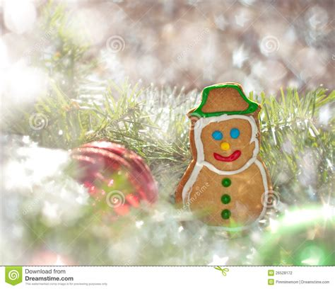 Dreamy Image Of A Christmas Cookie Stock Photography