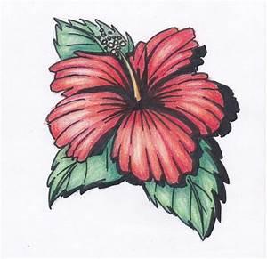 Hawaiian Flower by smilingnoodles on DeviantArt