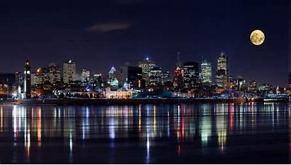 Montreal Night Moon Urban Exposure Modern Lights